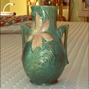 Vintage Roseville pottery vase